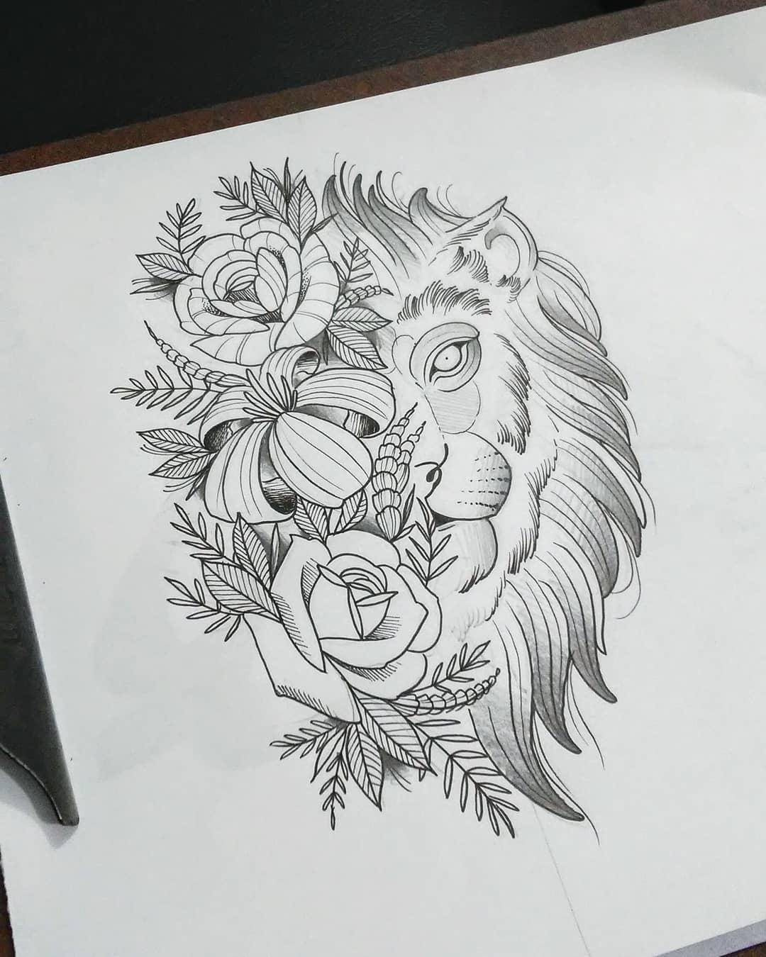 三国人物纹身手稿素材_手绘