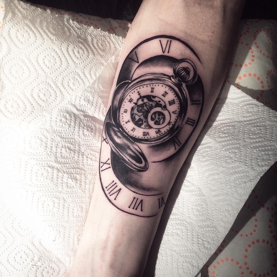 帅哥小臂小清新英文纹身图案
