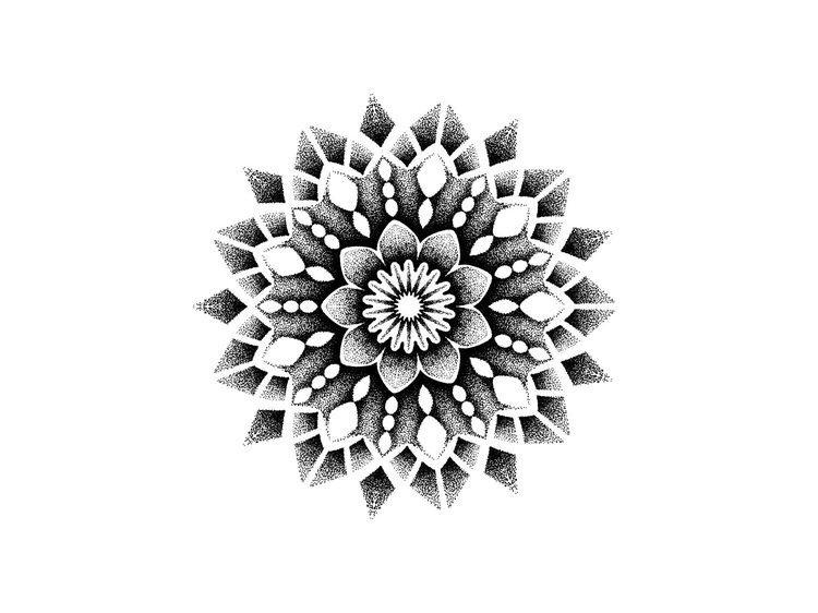 点刺风梵花纹身手稿 (2)