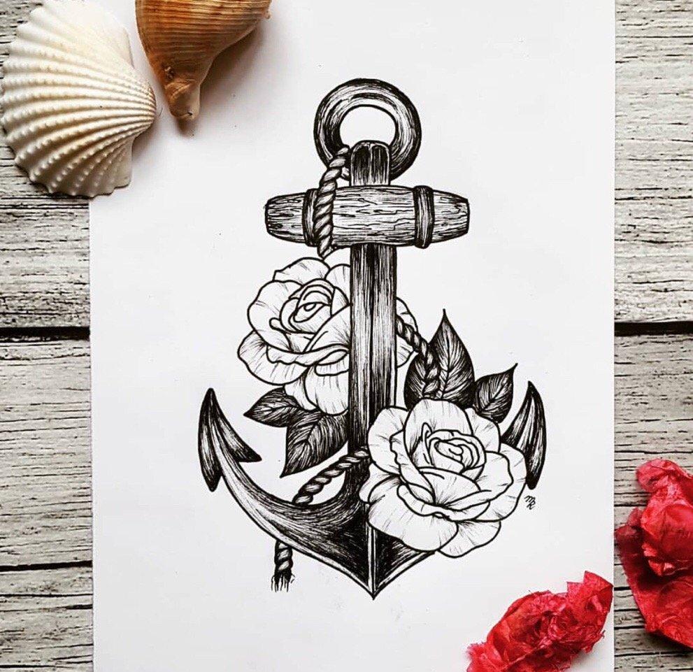 小腿甩线风玫瑰小女孩纹身图案图片