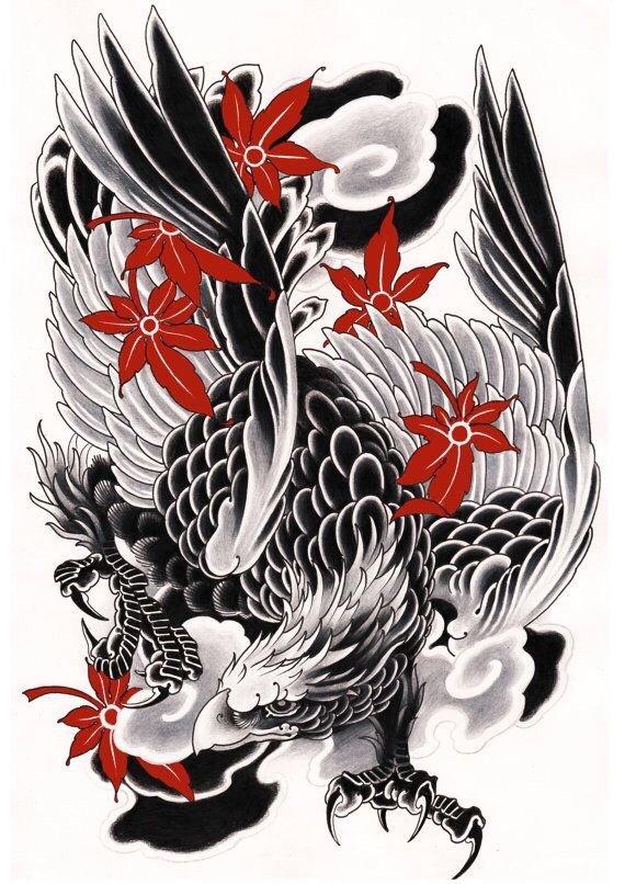 中式老传统虎纹身手稿